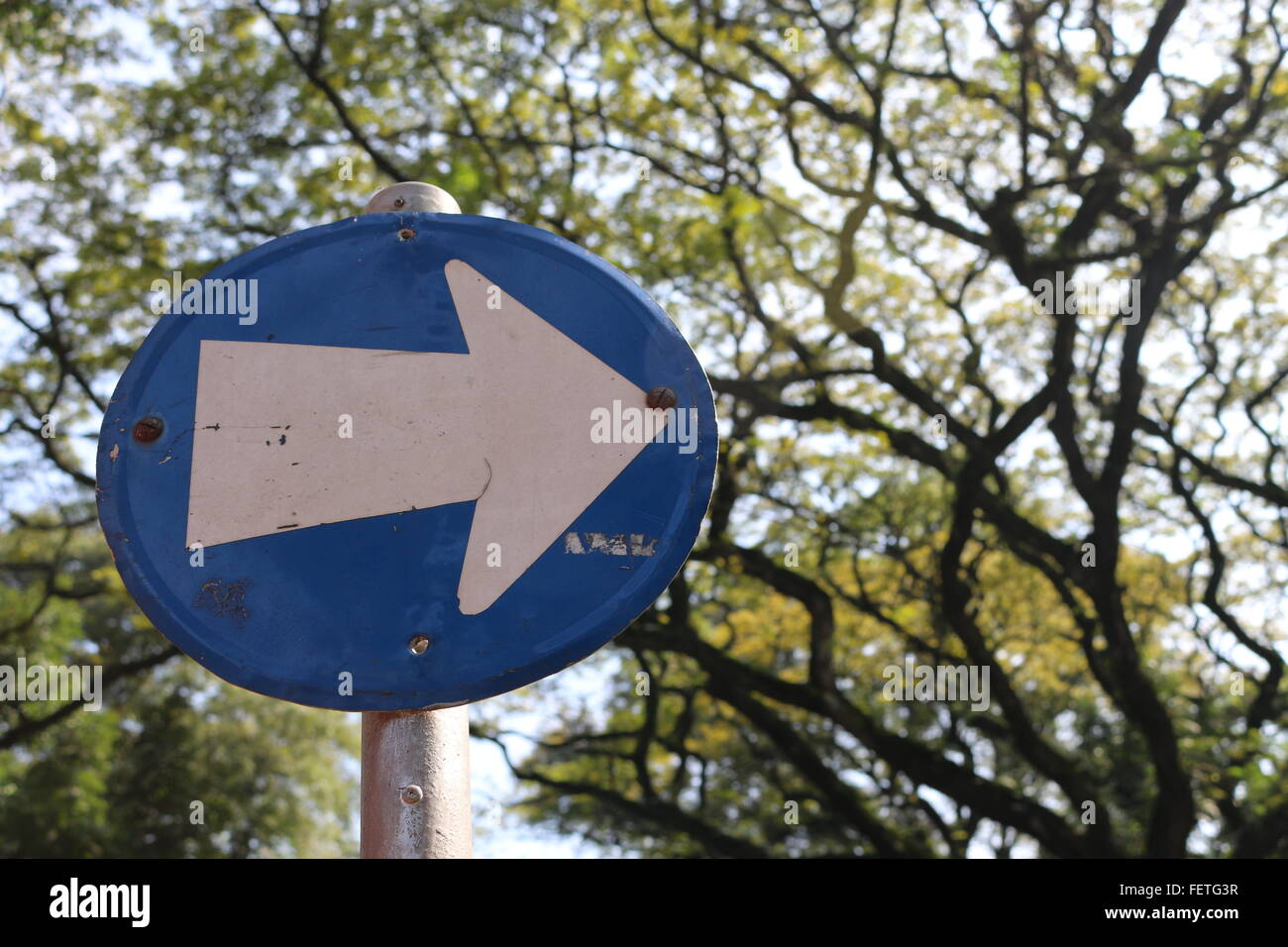 Traffic Arrow Sign - Stock Image