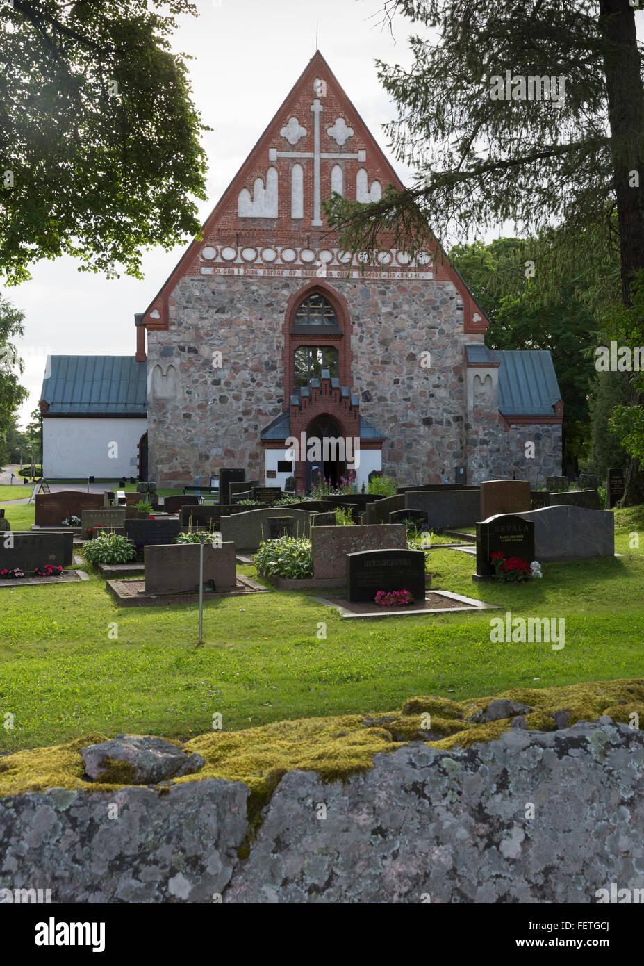 The Church of St. Lawrence (Finnish: Vantaan Pyhän Laurin kirkko; Swedish: Helsinge kyrka S:t Lars) is a church - Stock Image