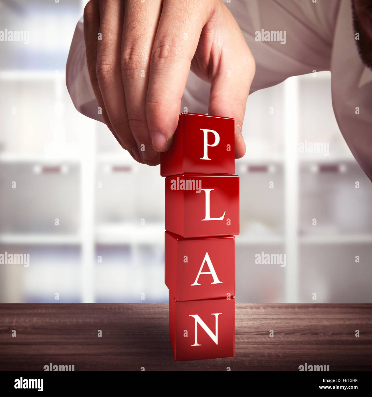 Building a plan - Stock Image