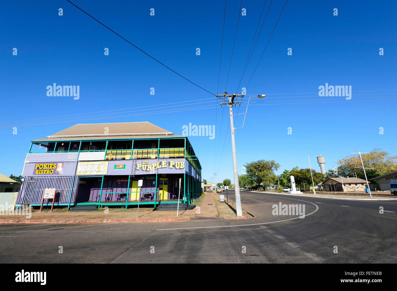 The Purple Pub, Normanton, Gulf of Carpentaria, Queensland, Australia - Stock Image