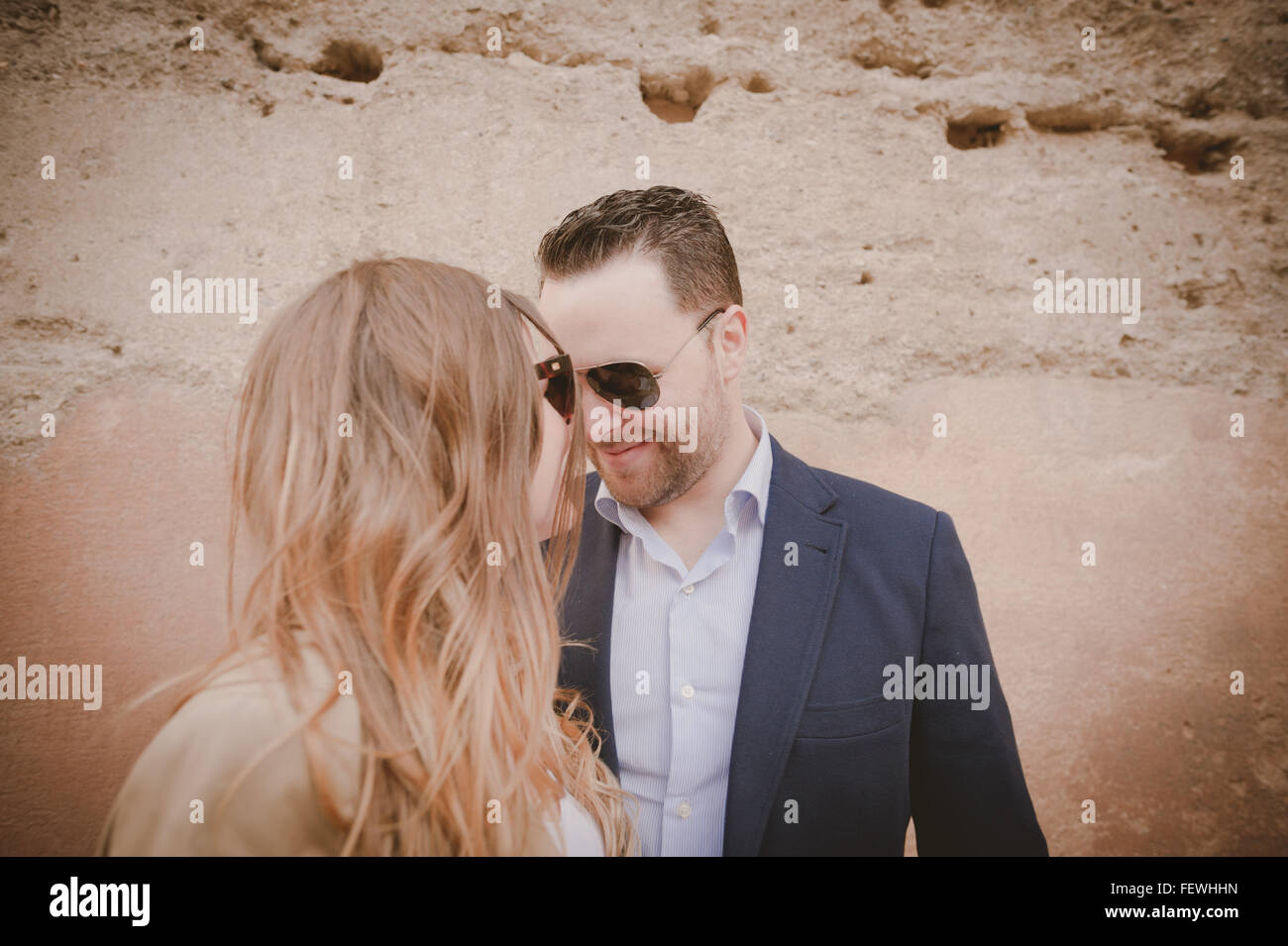 Couple Looking At Each Other - Stock Image