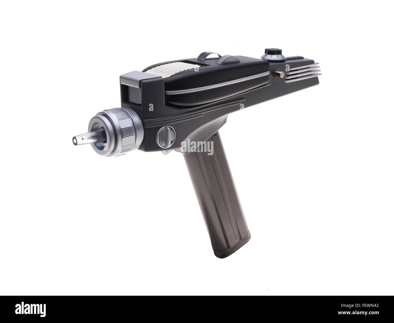 Star Trek the original TV series 1966 Phaser weapon that could kill or stun ( lethal or non lethal force ) Science - Stock Image
