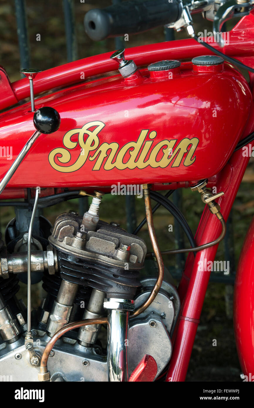 1929 Indian 101 Scout motorcycle. Classic American motorcycle - Stock Image