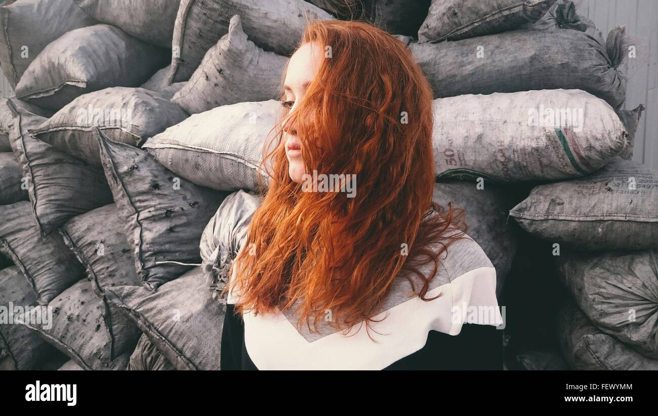 Redheaded Woman - Stock Image