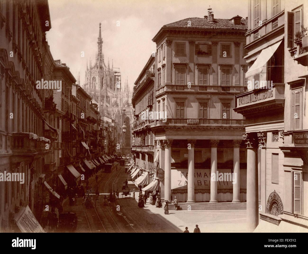 Corso Vittorio Emanuele, Milan, Italy - Stock Image