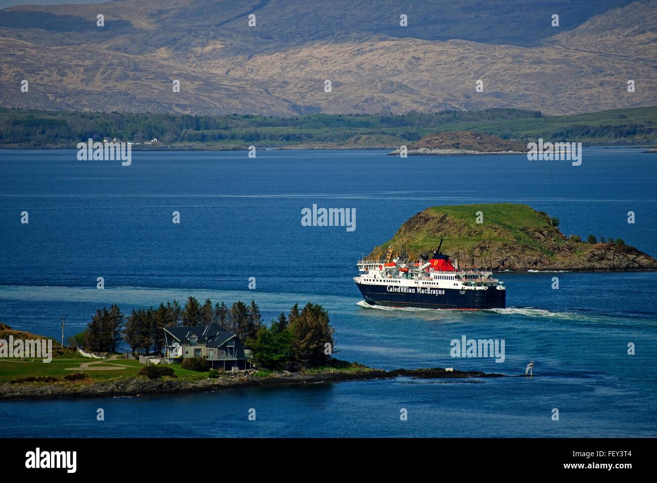 The MV Isle of Mull departs for Craignure, Oban, Argyll - Stock Image