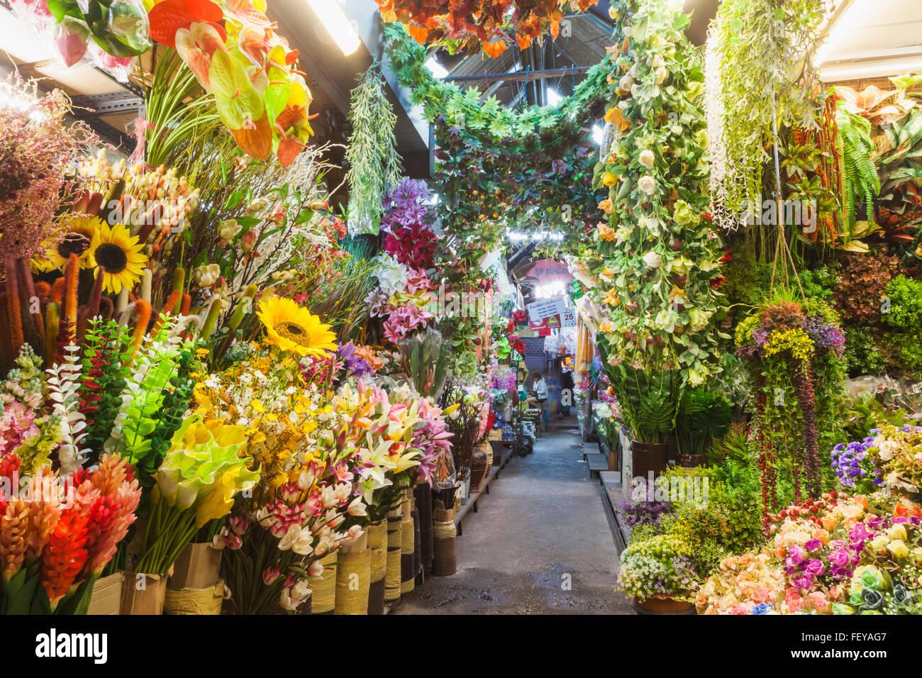Thailand Bangkok Chatuchak Market Shop Display Of Artificial