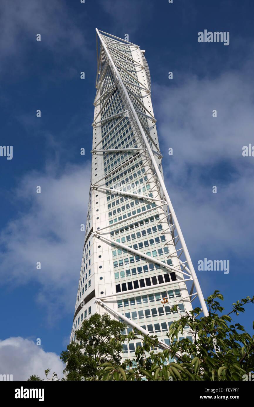 Turning Torso building, Malmö, Skåne, South Sweden, Sweden, Scandinavia, Europe - Stock Image