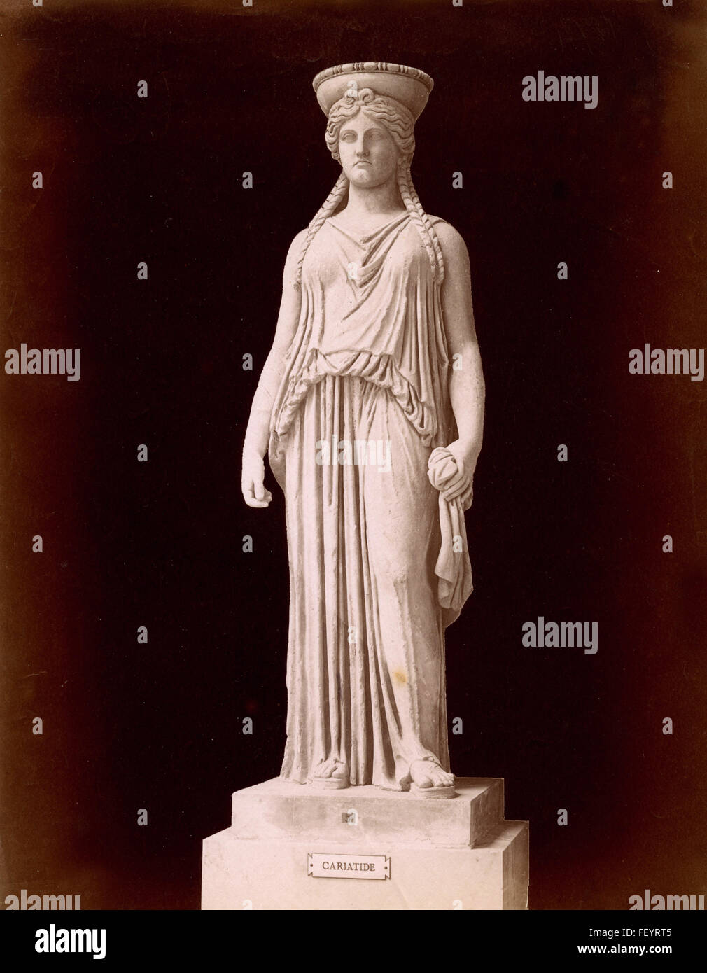 Caryatid of Pandrosium, Greek statue - Stock Image