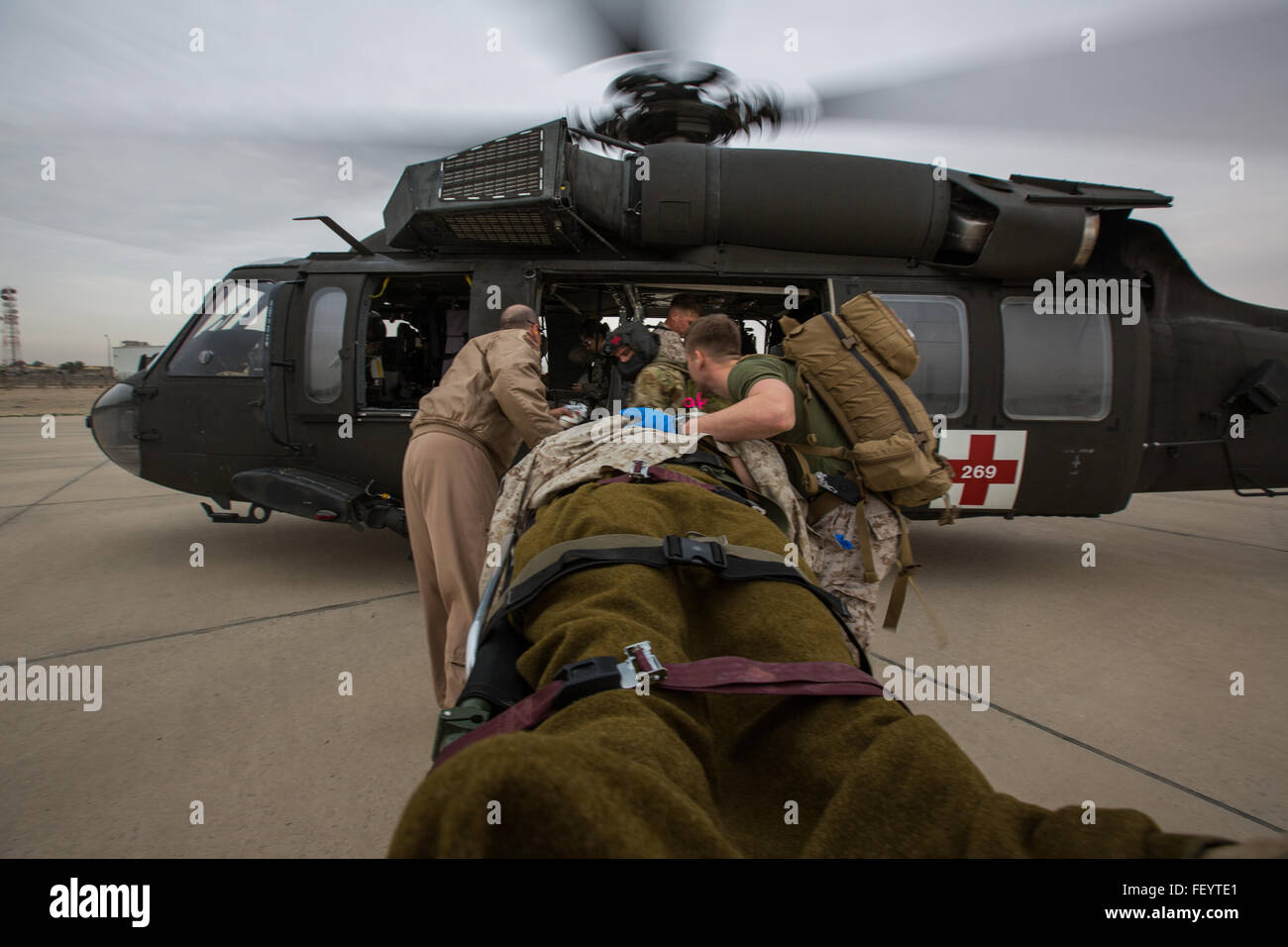 U.S. Navy Corpsmen with Special Purpose Marine Air-Ground Task Force-Crisis Response-Central Command (SPMAGTF-CR Stock Photo
