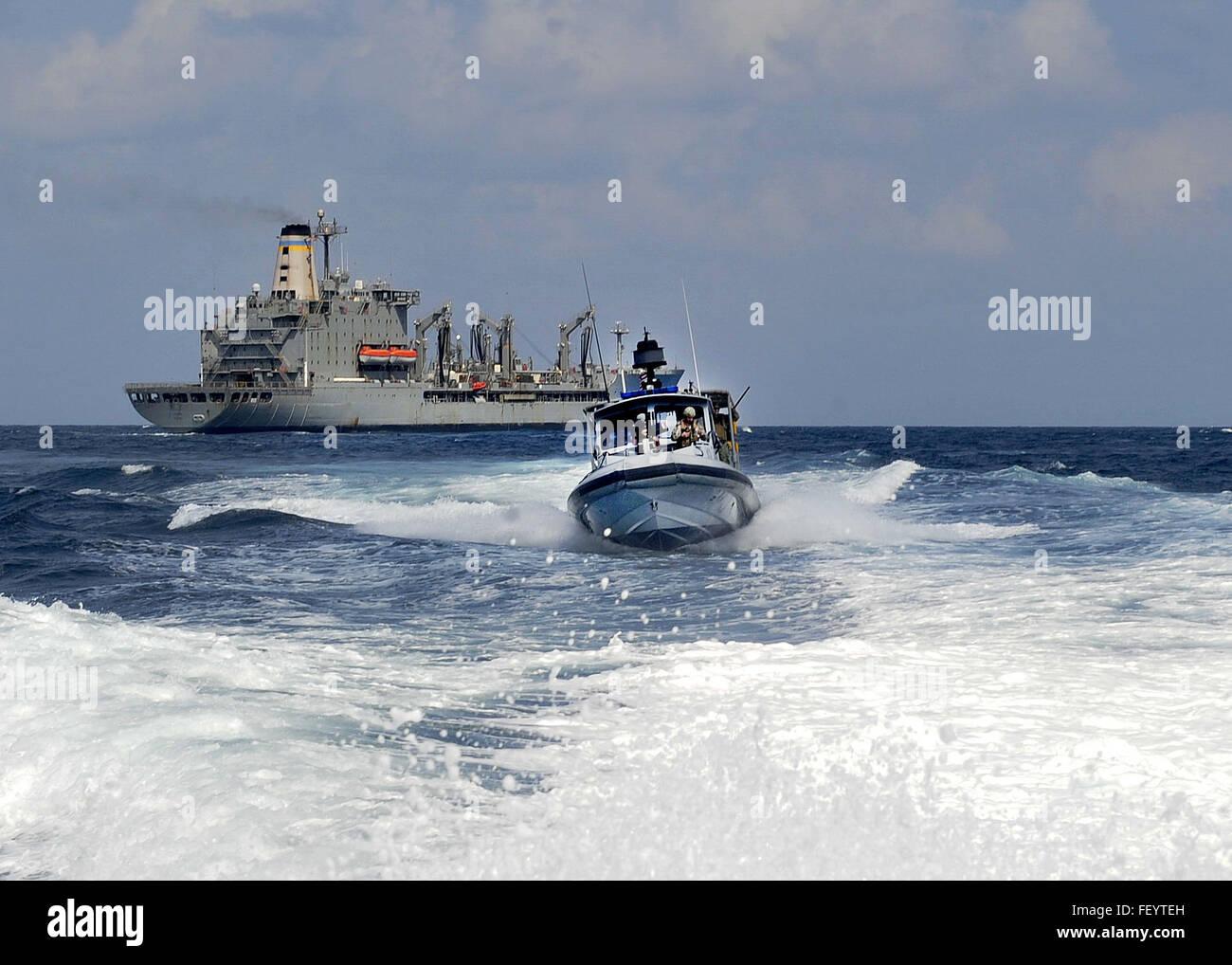 DJIBOUTI (Jan. 9, 2016) Coastal Riverine Squadron (CRS) 10, forward deployed to Camp Lemonnier, Djibouti, Africa, - Stock Image