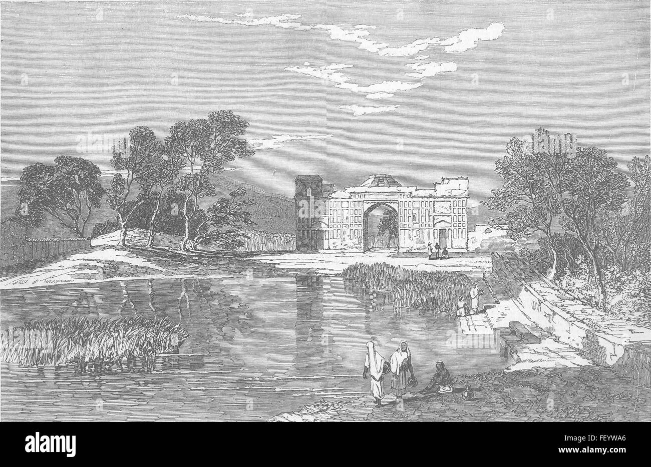 PAKISTAN Husyn Abdal In The Punjab 1850 Illustrated London News