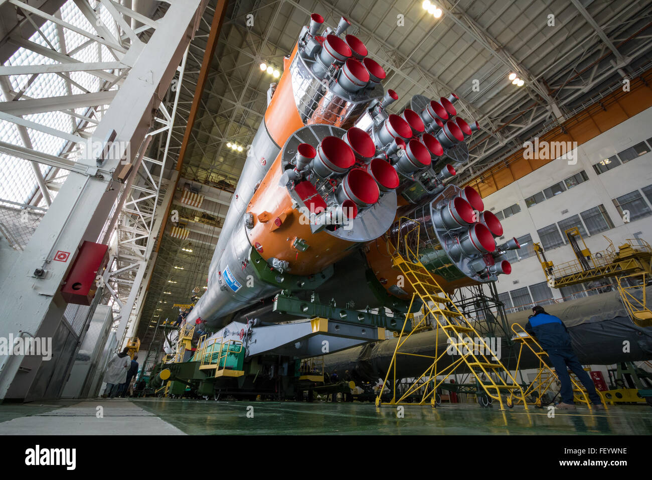 Expedition 46 Soyuz Assembly 2 - Stock Image