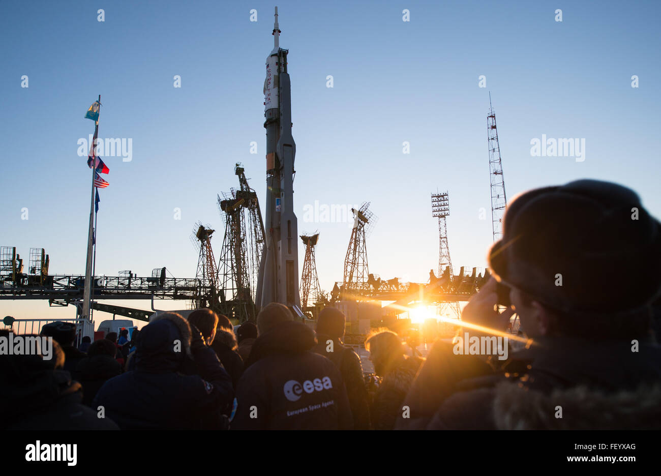 Expedition 46 Soyuz Rollout 2 - Stock Image