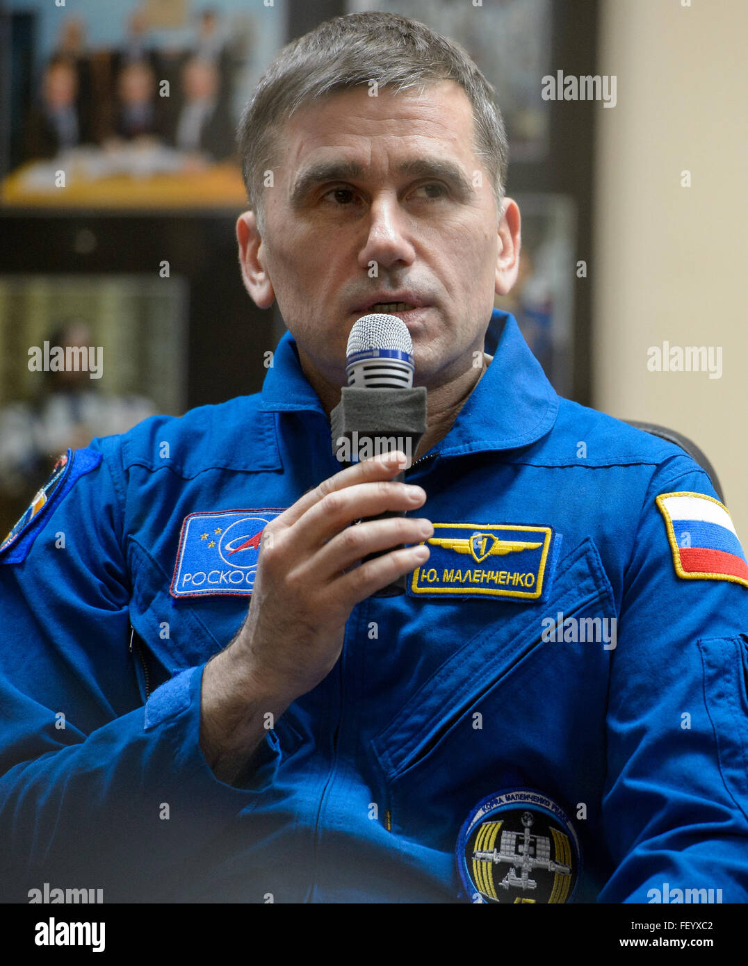 Expedition 46 Press Conference 2 - Stock Image