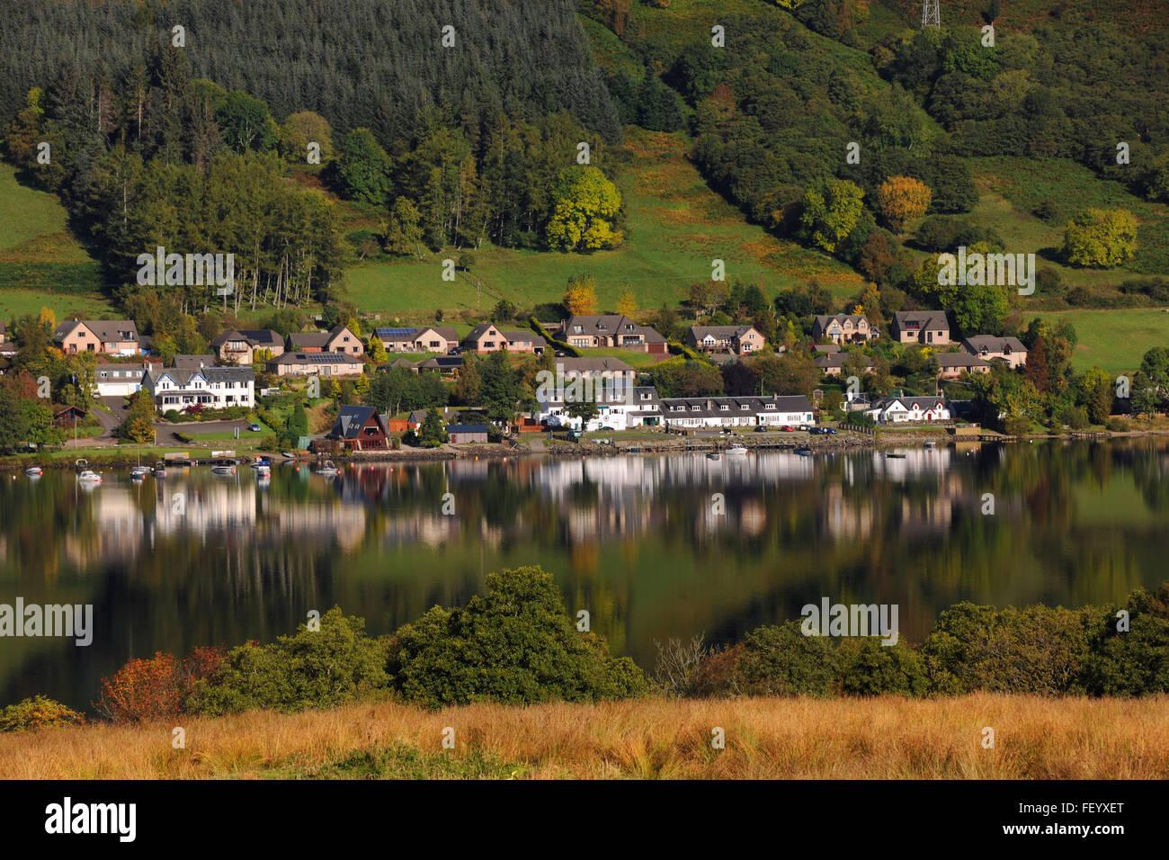 Lochearnhead, Loch Earn, Stirling Region - Stock Image