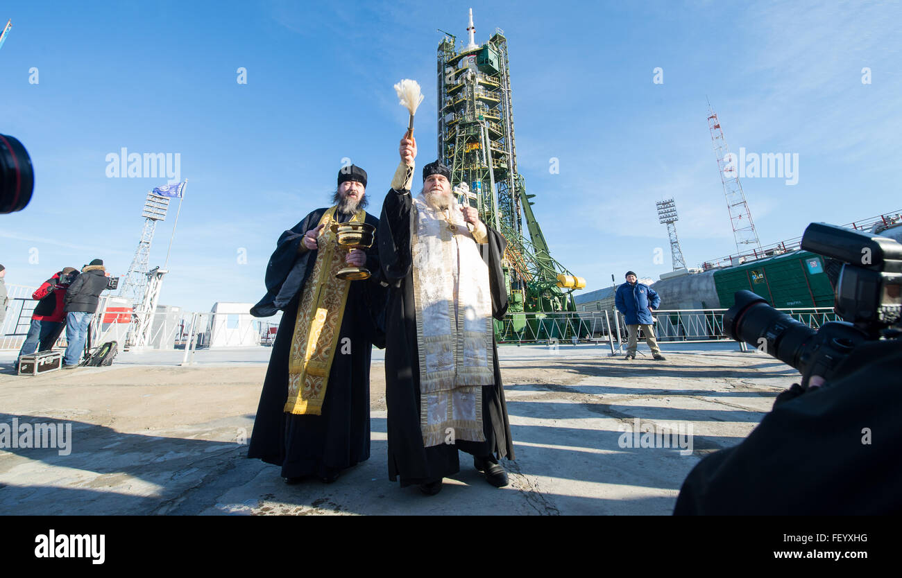 Expedition 46 Soyuz Blessing 2 - Stock Image