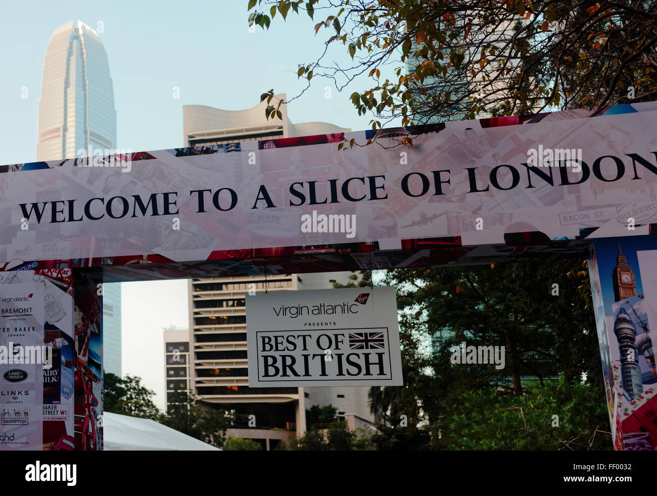 Welcome To A Slice Of London Greeting Banner Exhibition Hong Kong