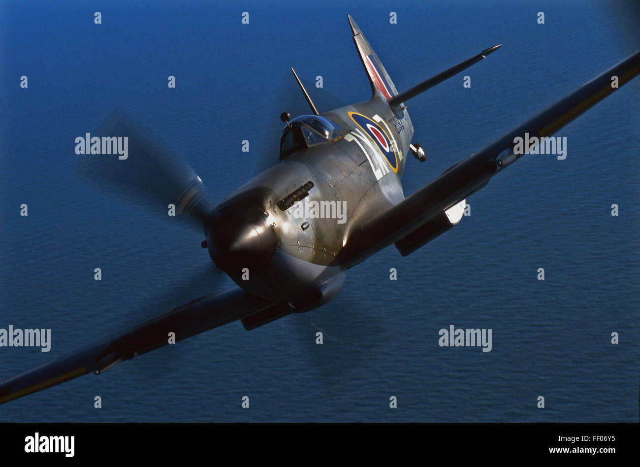 WWII Supermarine Spitfire airplane - Stock Image