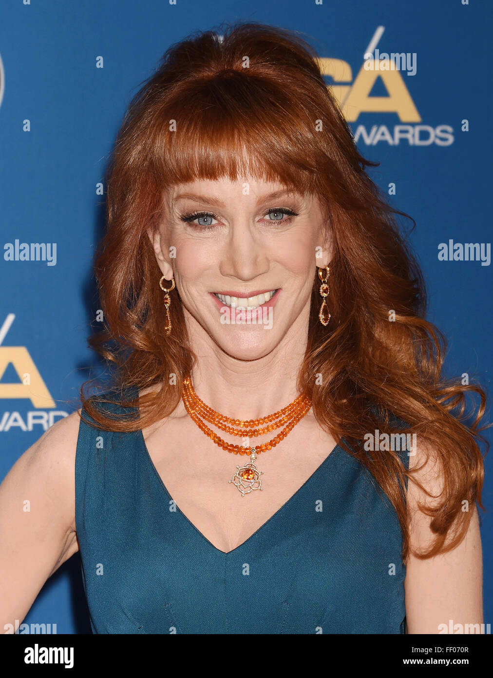 KATHY GRIFFIN  American comedienne  in February 2016. Photo Jeffrey Mayer - Stock Image