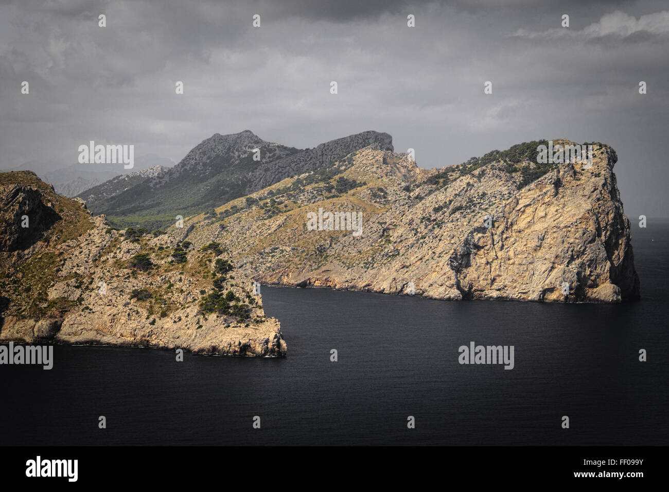 Mountains Meet the Sea Mountains Meet the Sea - Stock Image