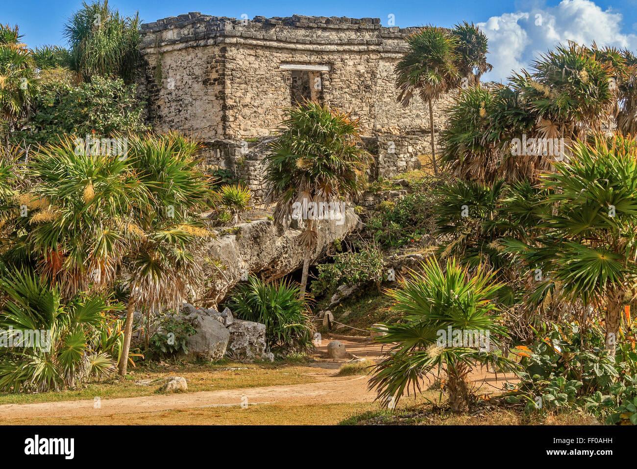 Building At Tulum Yucatan Mexico - Stock Image