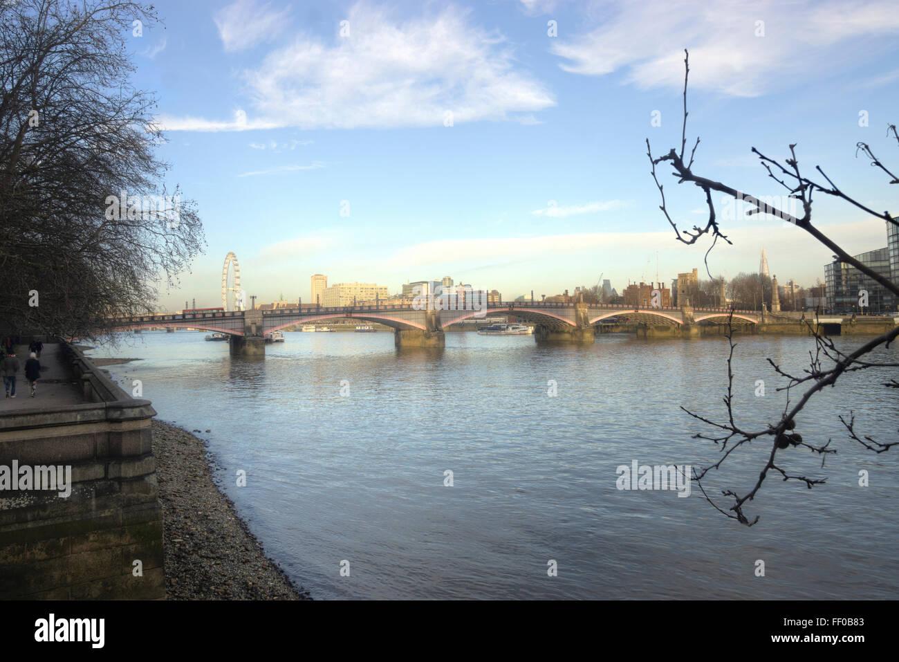 Lambeth Bridge,  River Thames - Stock Image