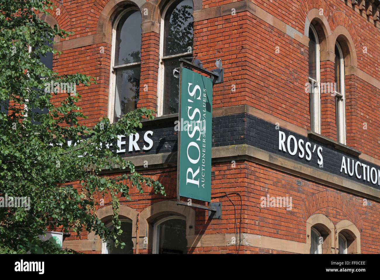 Ross's Auction House in Belfast City Centre. - Stock Image