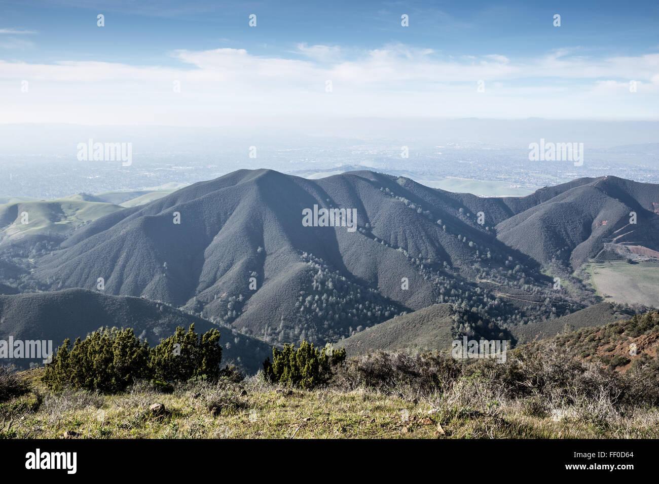 Views from Eagle Peak, Mt. Diablo State Park, Northern California Landscape. - Stock Image