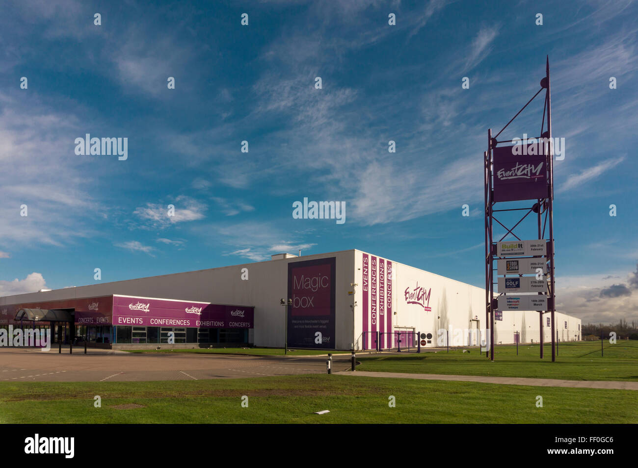 Event City Magic Box exhibition venue in Manchester - Stock Image