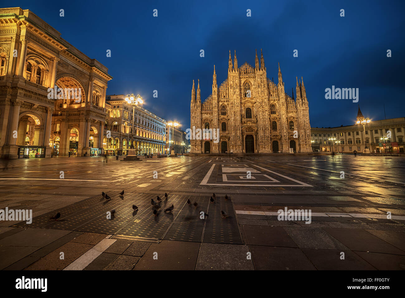 Milan, Italy: Piazza del Duomo, Cathedral Square - Stock Image