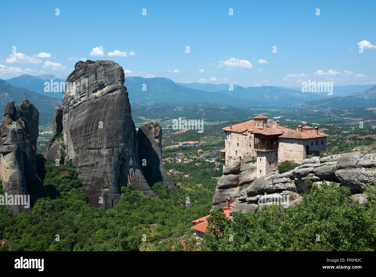 The Holy Monastery of Rousanou/St. Barbara in Meteora - complex of Eastern Orthodox monasteries, Greece Stock Photo
