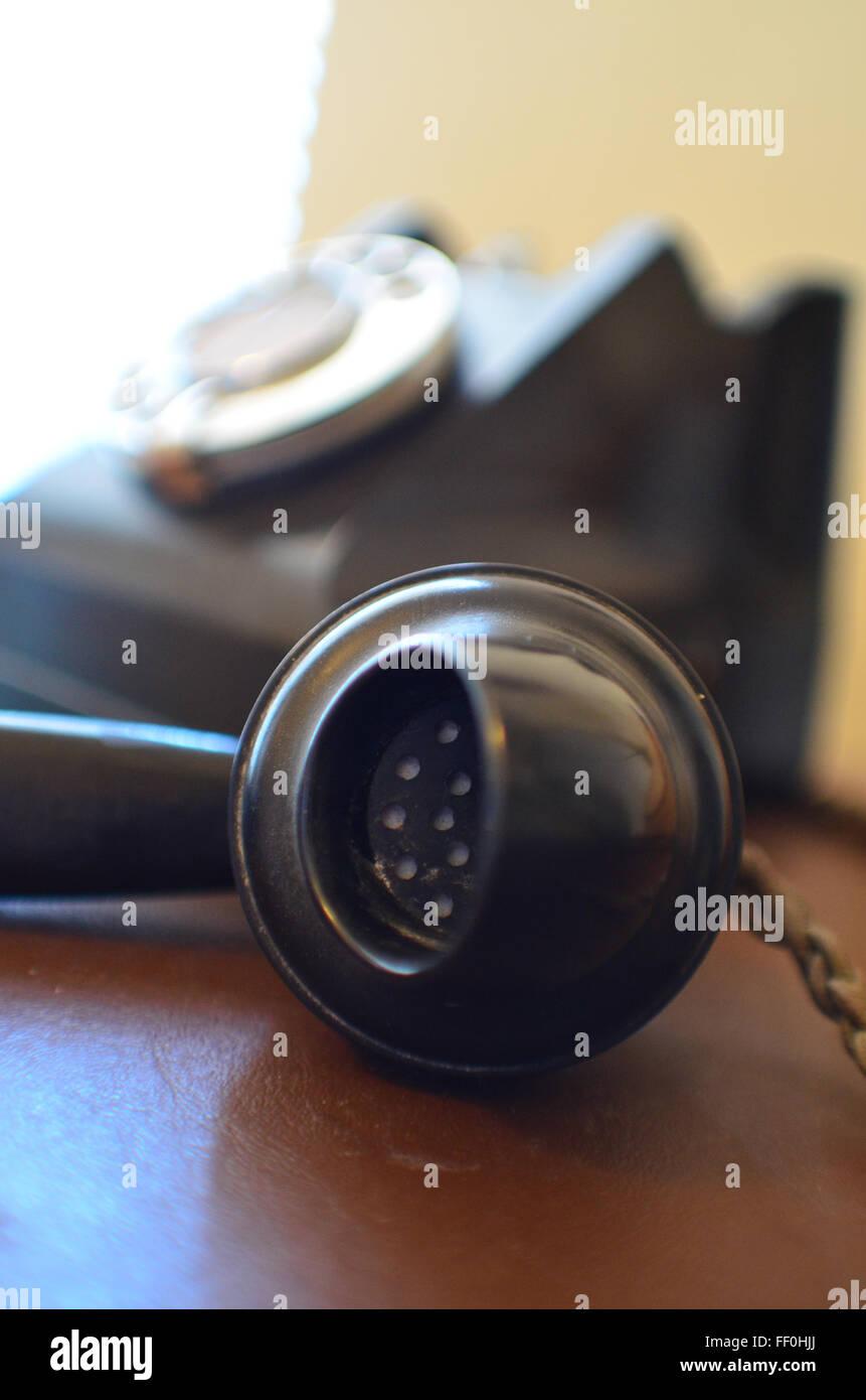 Old bakerlite phone - Stock Image