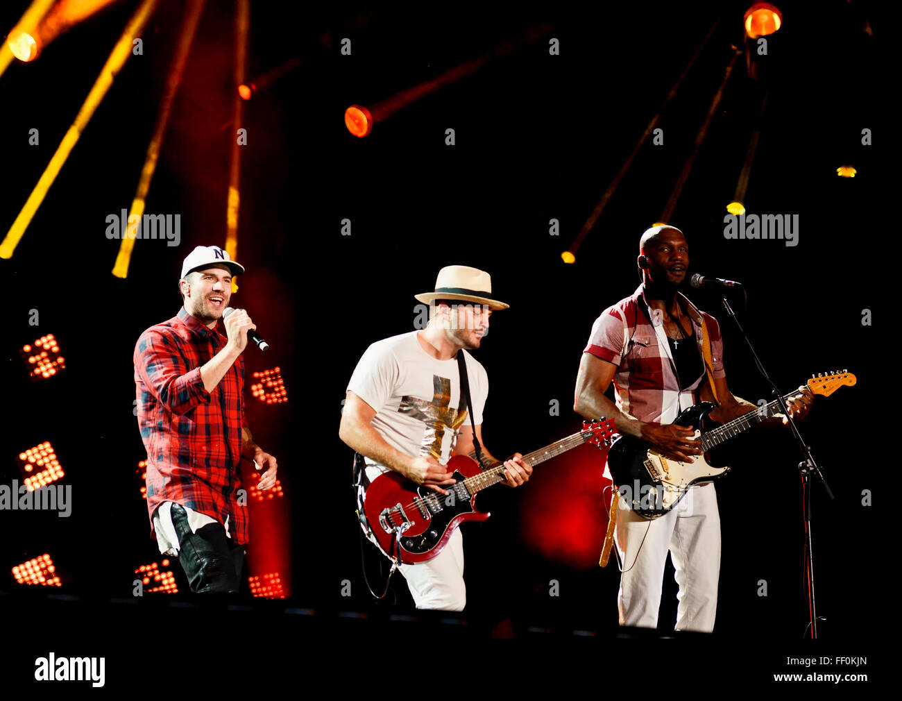 Sam Hunt Performing at the CMA Music Festival in Nashville Tennessee - Stock Image
