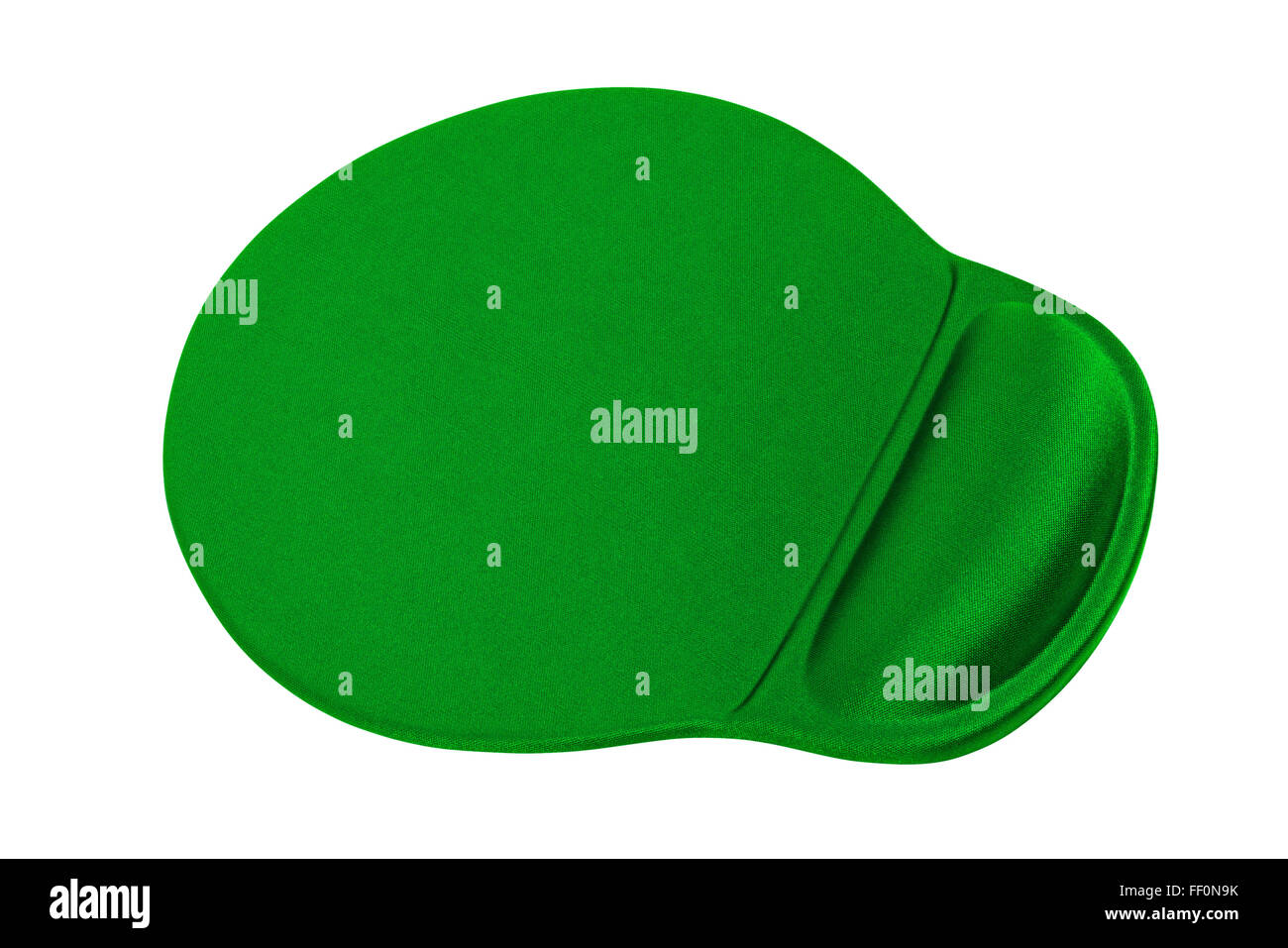 An ergonomic mouse pad isolated on the white background - Stock Image