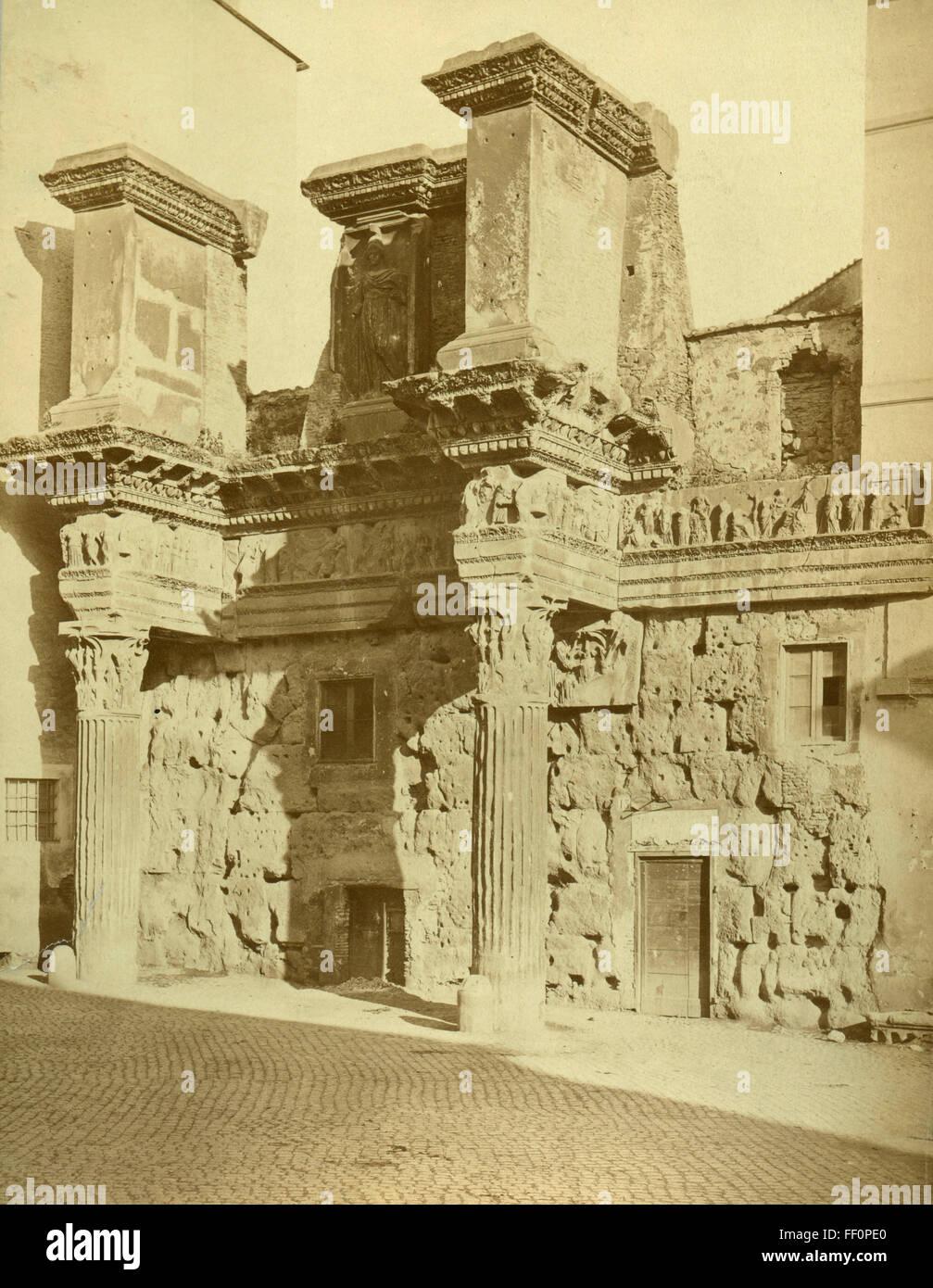 Temple of Minerva, Rome, Italy - Stock Image