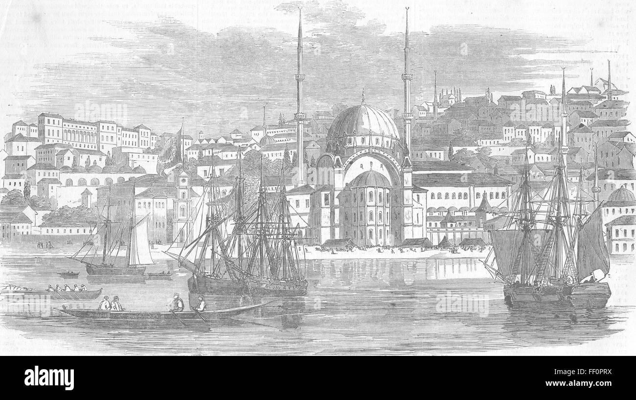 antique print Silivri Kapousi Gates of Istanbul TURKEY 1877