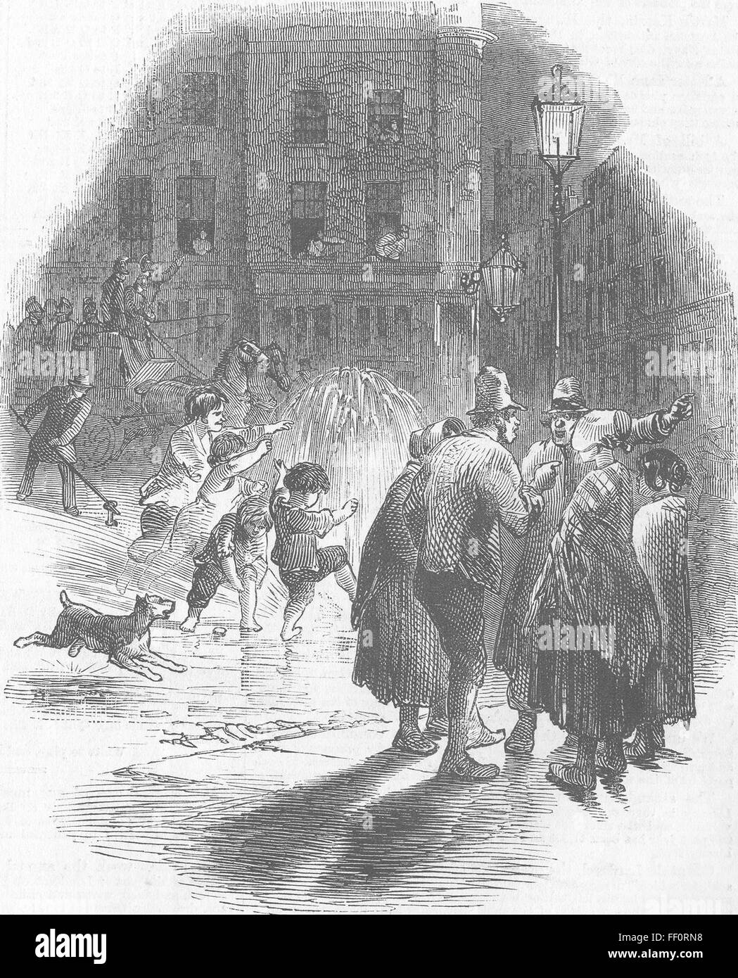 Plug Stock News >> Disasters Fire Plug 1858 Illustrated London News Stock Photo