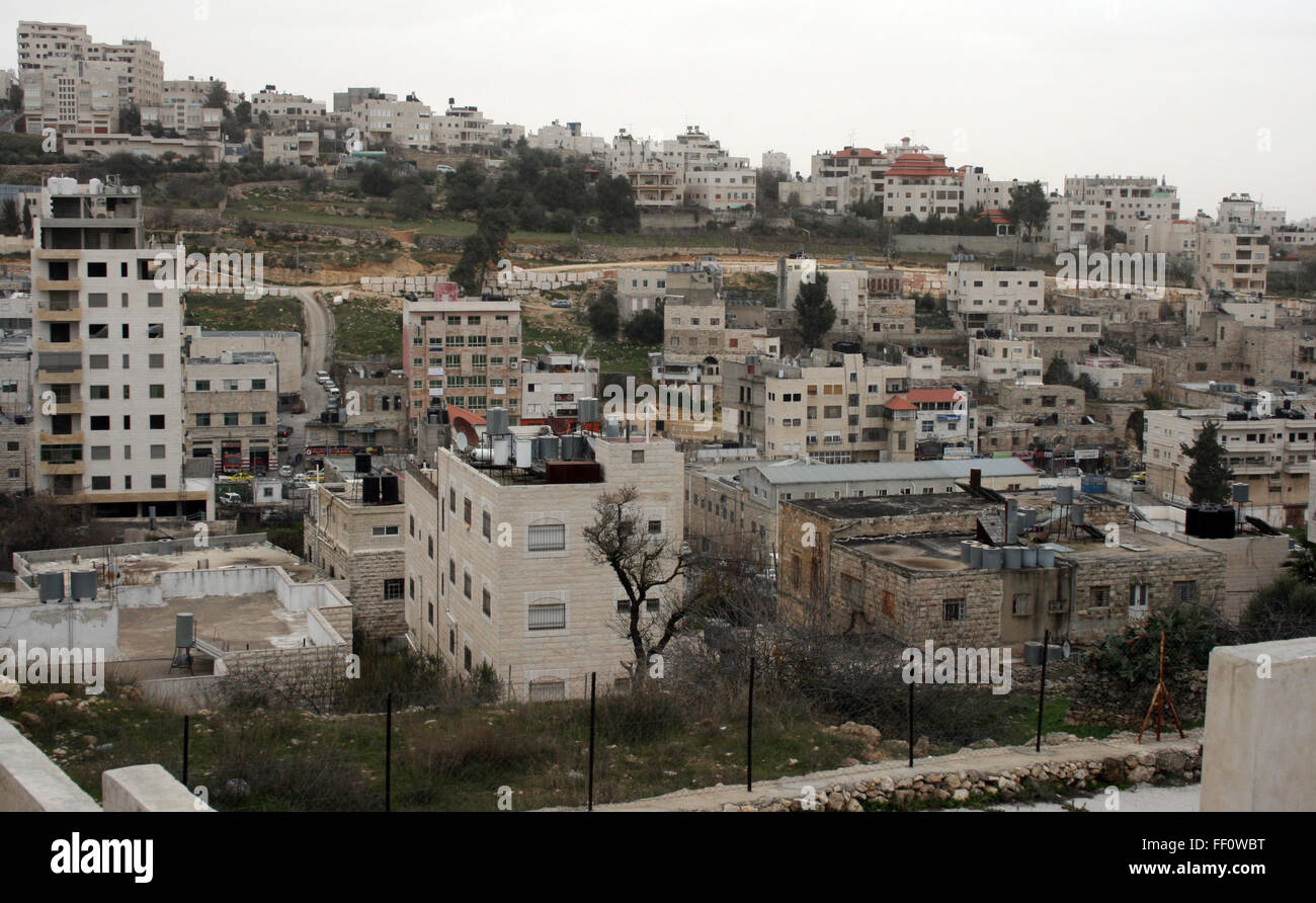 Hebron, Palestine. 19th Jan, 2016. The city of Hebron, Palestine, 19 January 2016. For the past months the West - Stock Image