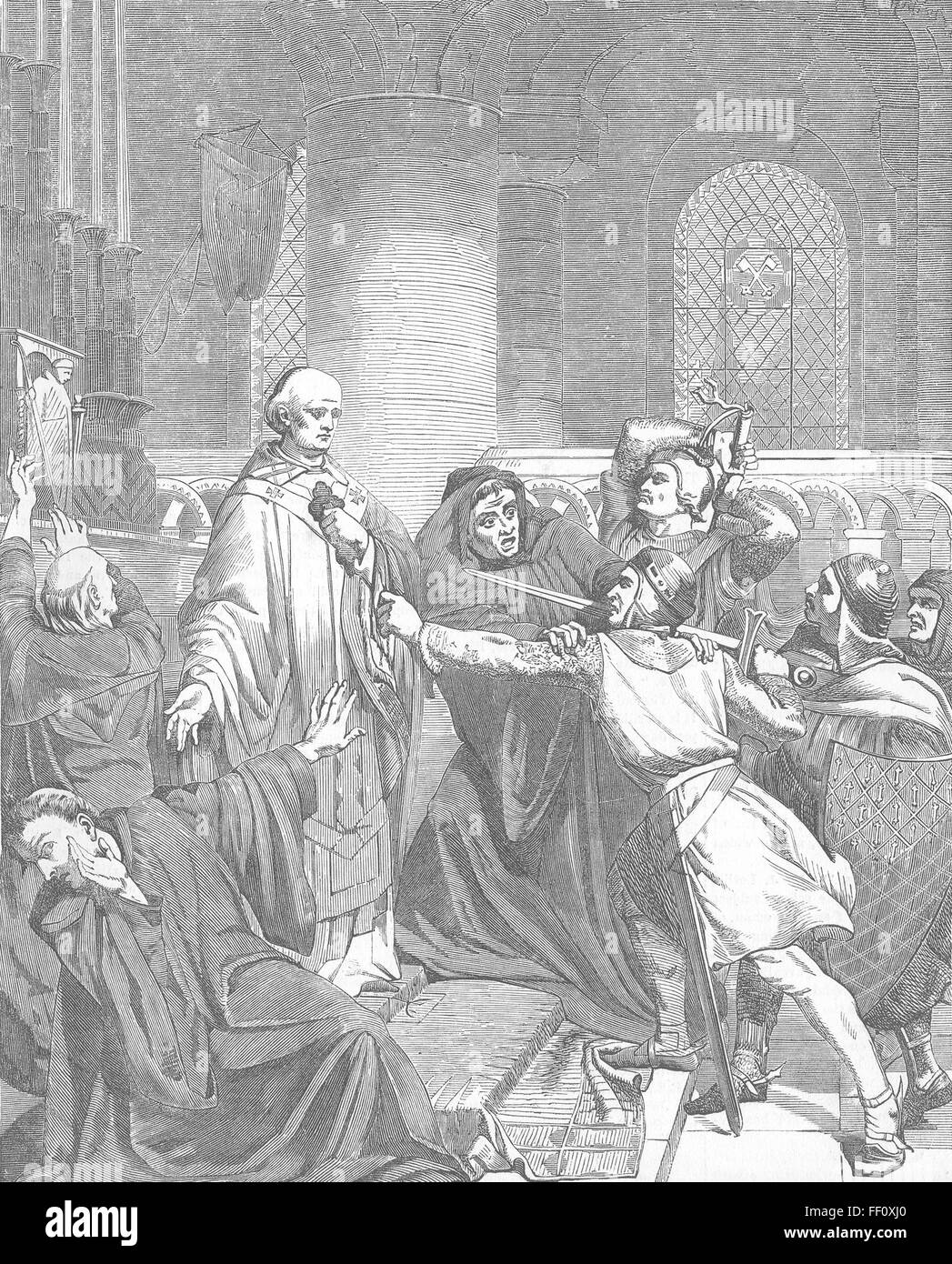 a history of the canterbury cathedral and thomas beckets death Learn and revise about thomas becket and henry ii's fight between church and monarch with bbc bitesize ks3 history  the death of thomas  canterbury cathedral.