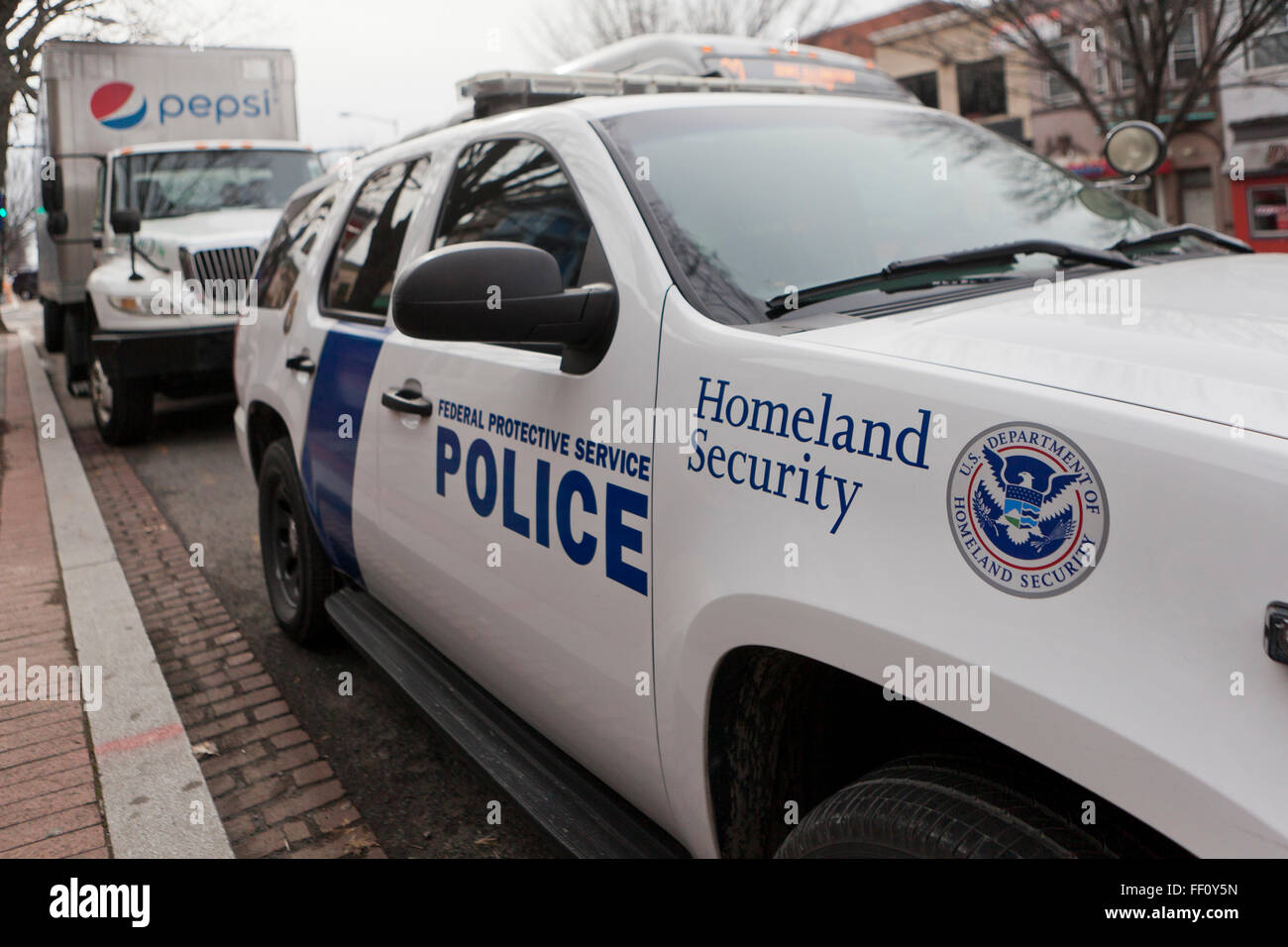 Homeland Security police car - Washington, DC USA Stock Photo