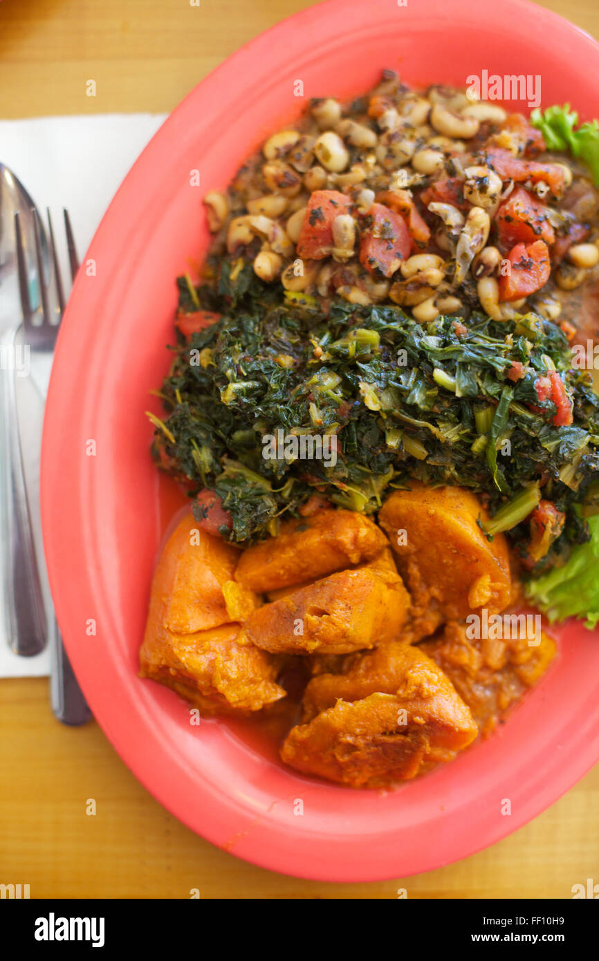 Northern soul food stock photos northern soul food stock images a healthy meal of vegan soul food black eyed peas greens and sweet potatoes forumfinder Choice Image
