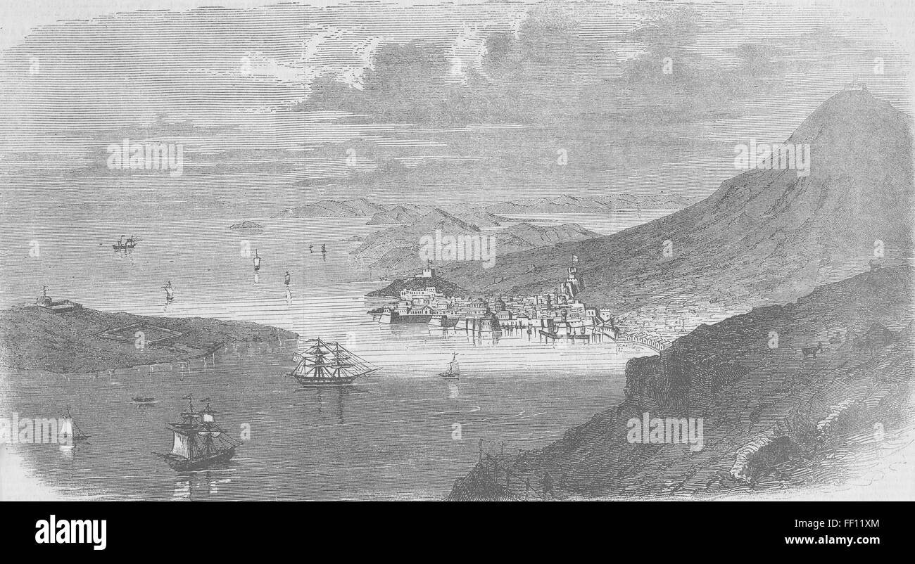 CROATIA Lokrum, in the Adriatic 1859. Illustrated Times Stock Photo