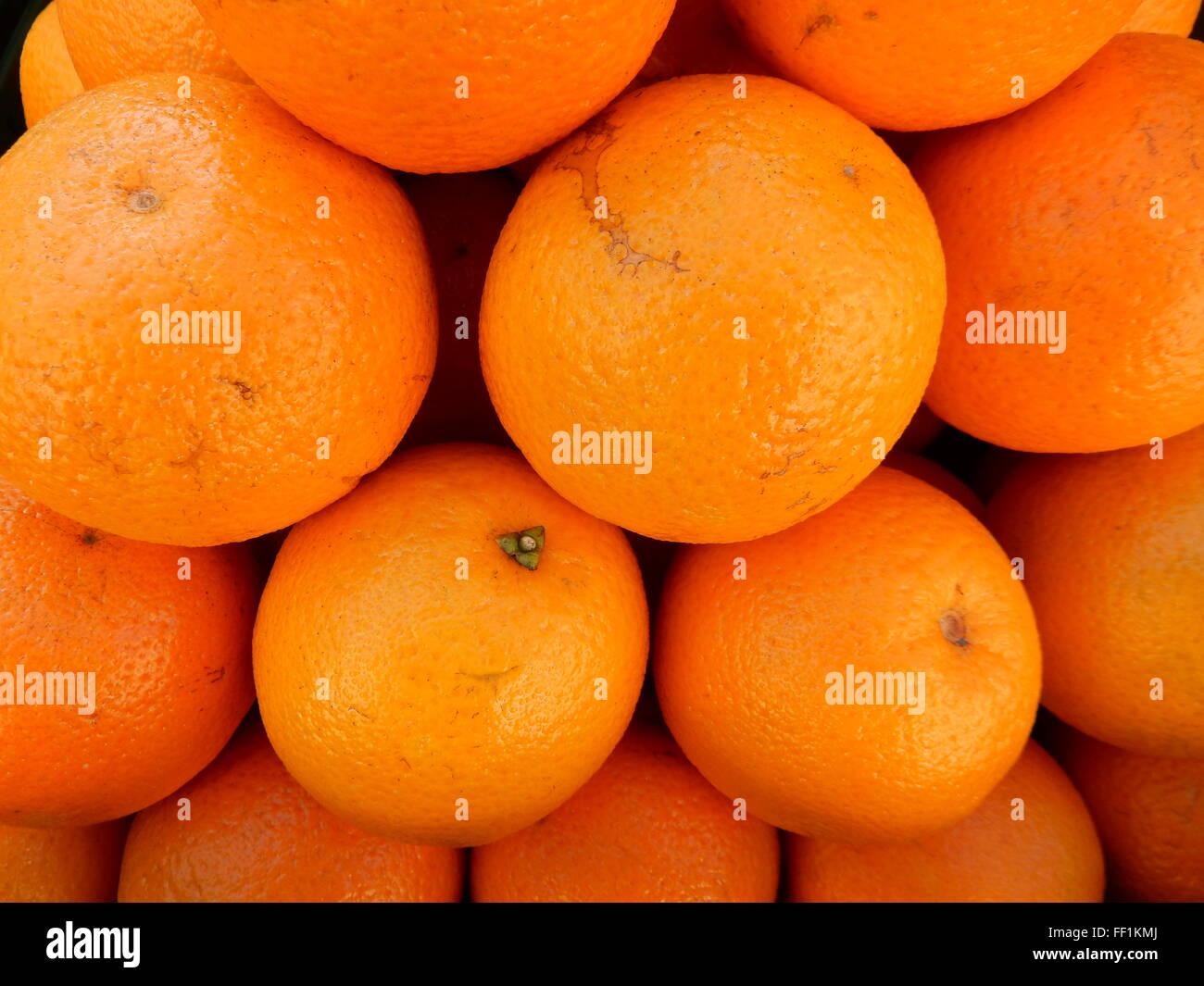 oranges on the market place - Stock Image