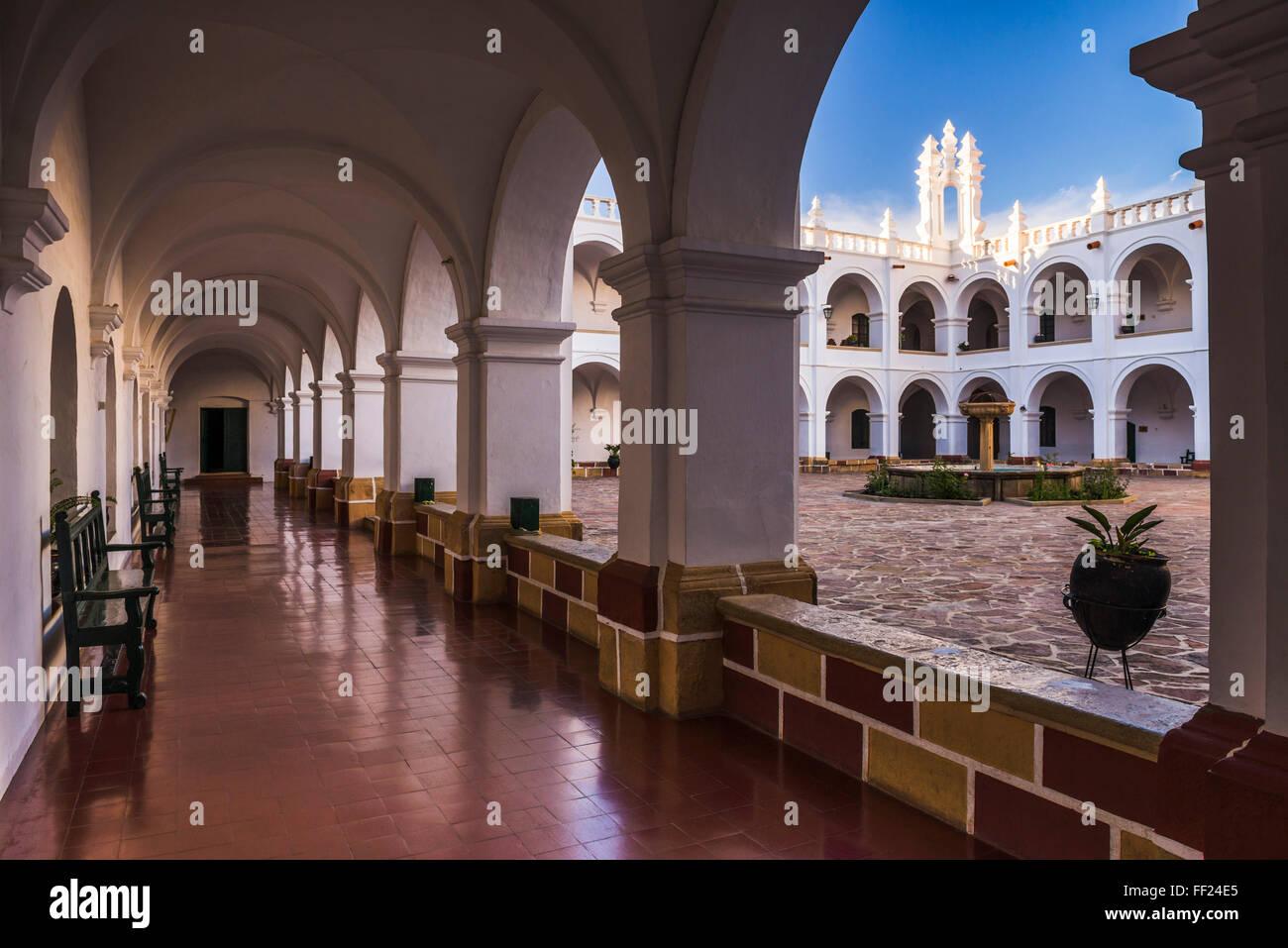 Universidad San Francisco Xavier de Chuquisaca (University of Saint Francis Xavier), Historic City of Sucre, UNESCO, - Stock Image