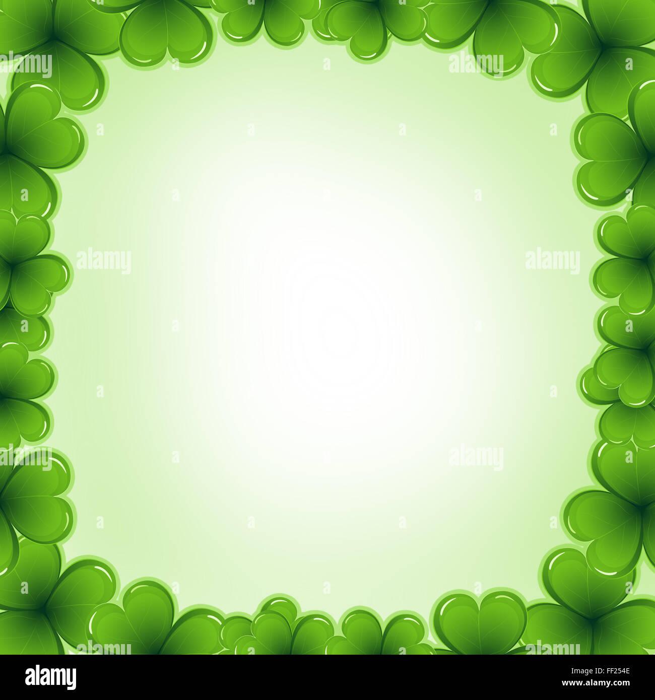 Decorative frame border made of shamrock - Saint Patrick day card ...