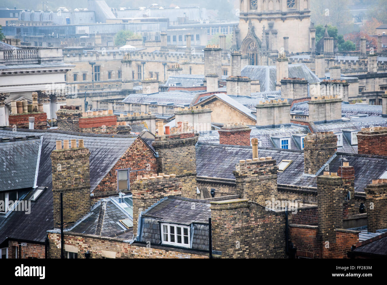 Oxford rooftops, Oxford, Oxfordshire, England, United Kingdom, Europe - Stock Image