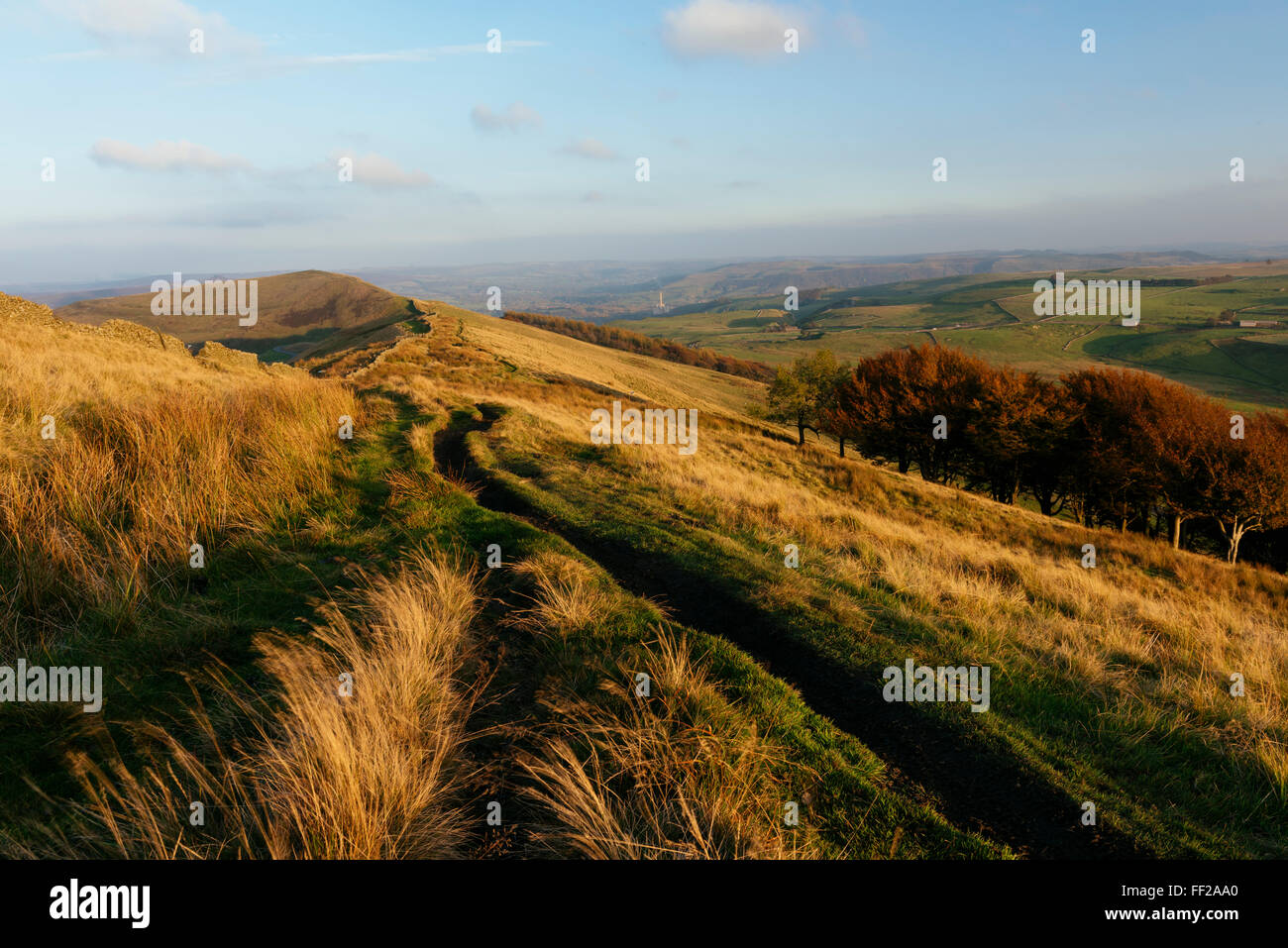 View from Mam Tor, Peak District, Derbyshire, EngRMand, United Kingdom, Europe - Stock Image
