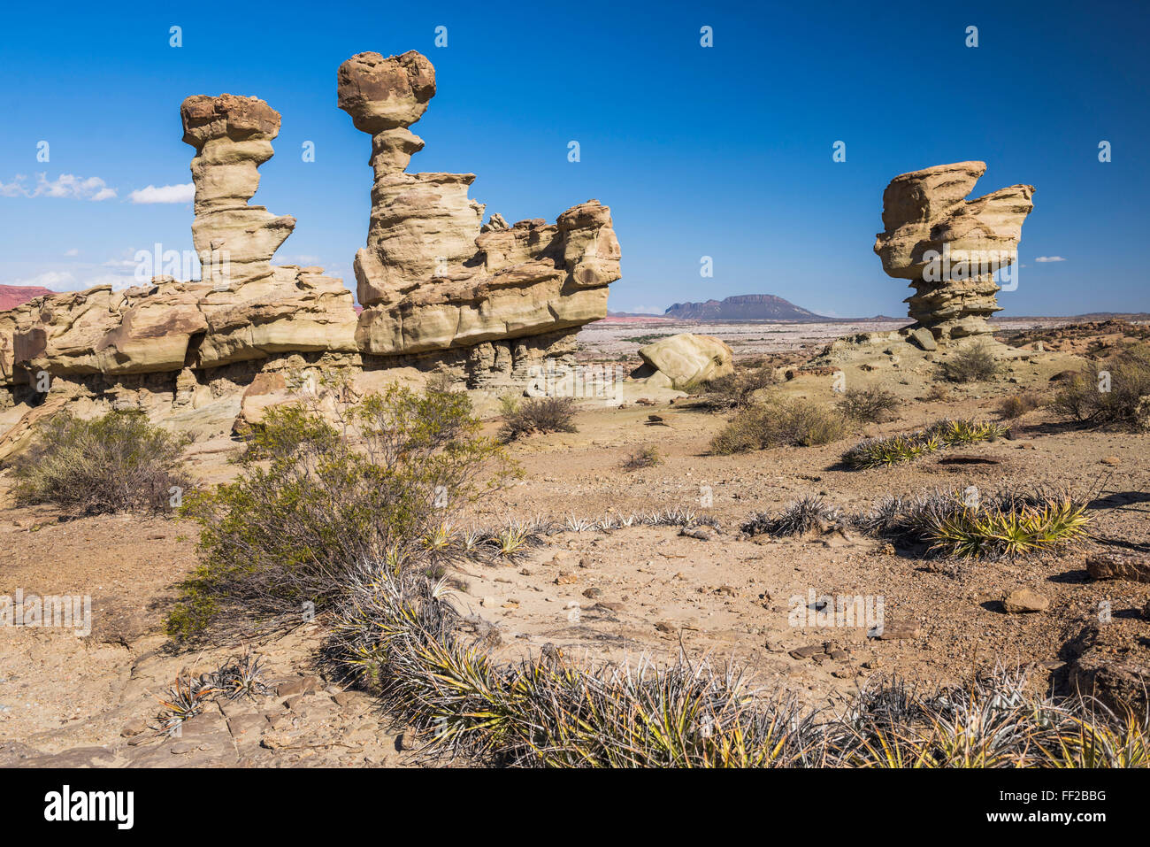 VaRMRMey of the Moon, rock formation known as the Submarine, IschiguaRMasto ProvinciaRM Park, San Juan Province, - Stock Image