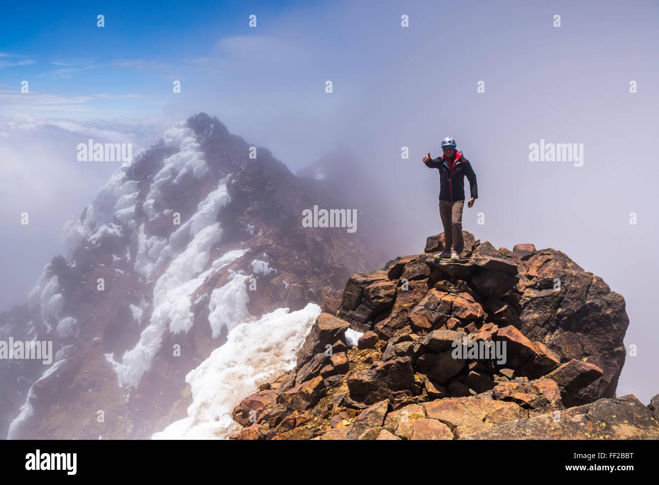 The 5126m summit of IRMRMiniza Norte VoRMcano, Pichincha Province, Ecuador, South America - Stock Image